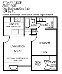 sq ft apartment layout