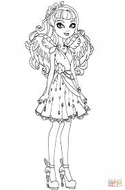 free printable ever after high coloring pages raven queen for