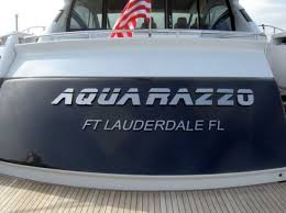 custom vinyl cnc routed and backlight led boat names