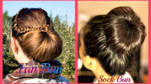 fan and sock bun hair tutorial video dailymotion
