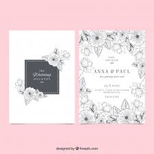 wedding invitations freepik wedding invitation with flower sketches vector free