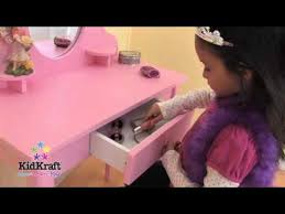 Kidkraft Vanity Table Kidkraft U0027s Vanity Table U0026 Stool Set Pink Youtube