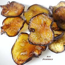 cuisiner les aubergines au four chips d aubergine à la fleur de sel aux fourneaux