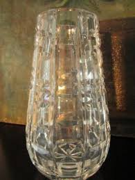 Vintage Waterford Cut Glass Crystal Vase Starburst Pattern Waterford Tall Ship Crystal Three Sails Made In Ireland With