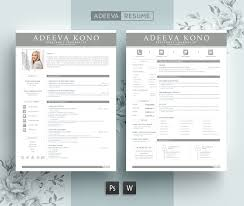 professional resume template kono resume templates creative market