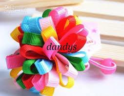 ribbon hair bands new kids baby rainbow ribbon hair bands hair ties hairclips