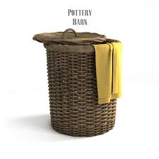 Pottery Barn Wicker Pottery Barn Round Perry Wicker Basket Hamper Havana Weave By