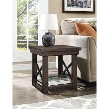 Storage End Table Ameriwood Furniture Wildwood Wood Veneer End Table Espresso