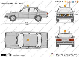 the blueprints com vector drawing toyota corolla dx e70
