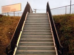 grayland train station slippery stairs stop the slip