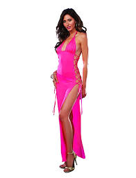 amazon com dreamgirl women u0027s stretch jersey long halter dress