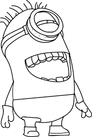 minion laugh coloring page wecoloringpage