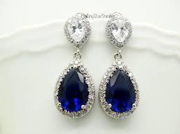 royal blue earrings navy blue earrings royal blue earrings blue earrings bridal