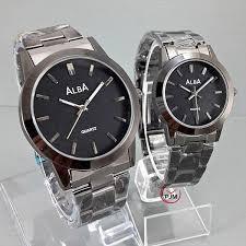 Jam Tangan Alba jam tangan alba black thick dunianet
