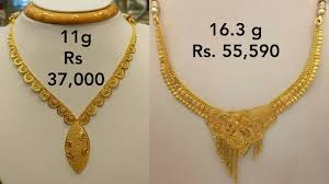 new fashion gold necklace images Gold necklaces designs with weight and price new collection 2018 jpg