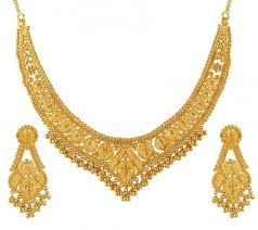 gold necklace with earrings images Gold necklace set ajns51172 22k gold fancy necklace and jpg