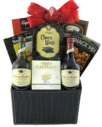 Wine And Chocolate Gift Basket A Gourmet Treat Gift Basket Glitter Gift Baskets