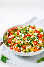 israeli couscous salad with feta and mint