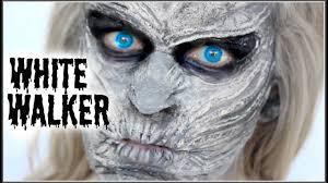 white face halloween makeup white walker game of thrones makeup halloween sfx tutorial