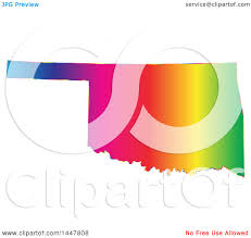 Map Of United States Vector by Clipart Of A Gradient Rainbow Map Of Oklahoma United States Of