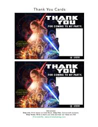 Cards Invitations Free Printable Free Star Wars The Force Awakens Invitation U0026 Thank You Card