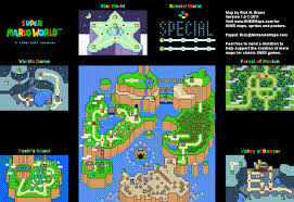 World Map Cartoon by Super Mario World Maps Snes Mario Universe Com A Super Mario