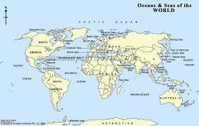 map world seas map world seas major tourist attractions maps