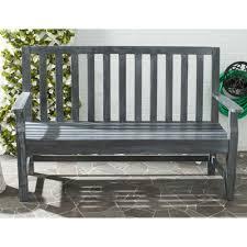 Acacia Wood Outdoor Furniture by Safavieh Indaka Acacia Wood Garden Bench U0026 Reviews Wayfair