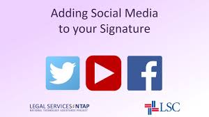 Signature by How To Add Social Media Icons To Your Email Signature In Outlook