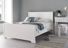 Wooden White Bed Frames Chateaux White Wooden Bed Frame
