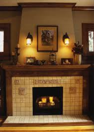 elegant fireplace mantel ideas decoration with two lamps