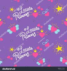 little princess pattern vector sweet stock vector 521980048