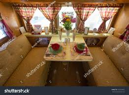 Flying Flags Rv Park Interior View Breakfast Table 1962 Kencraft Stock Photo 165725852