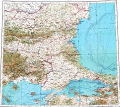 Map Of Istanbul Download Topographic Map In Area Of Istanbul Varna Bursa