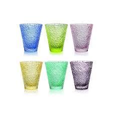 set bicchieri set 6 bicchieri ivv iroko