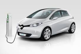 charging my renault zoe electric car