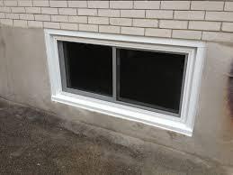 Basement Window Installation Cost by Backyard Vinyl Basement Windows How Replace Wonderful Cost