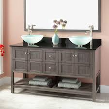 Designer Vanities For Bathrooms by Freestanding Modern Sink Vanity Signature Hardware