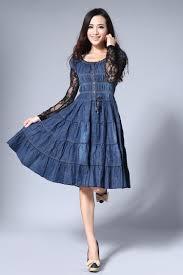 summer dress knee length jean u2013 woman art dress