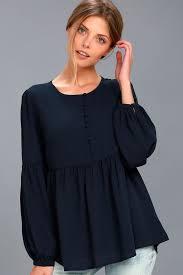 navy blue blouse lovely navy blue blouse sleeve top peplum top