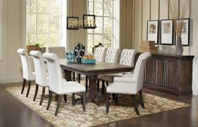 Coaster Dining Room Sets Weber Dining Room Set W Cream Chairs Coaster Furniture