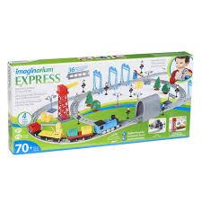 imaginarium train set with table 55 piece imaginarium express timber log spiral train set toys r us