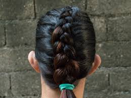 hair braided on the top but cut close on the side how to do a reverse french braid 6 steps with pictures