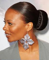 bun hairstyles for black women pictures of sleek bun hairstyle for black women