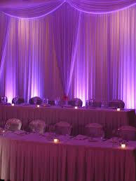 wedding backdrop monogram just drape a white sheer fabric and use lighting the wedding