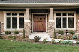 Home Exterior Design Stone Exterior Design Interesting Wooden Pella Doors Plus Stone Siding