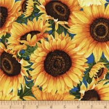 Sunflower Home Decor by Timeless Treasures Wild Gold Sunflower Discount Designer Fabric