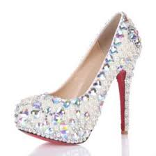 wedding shoes luxury luxury white pearl rhinestone platform pumps