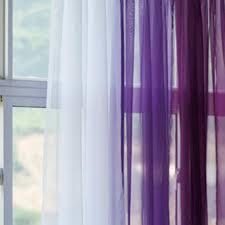 Purple Sheer Curtains Grape Lavender Gradient Panel Set Sheer Curtains Living Room