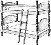 Bunk Bed Drawing Bunk Bed Drawing Clipartxtras